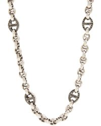 Hoorsenbuhs - Pavé Black Diamond Sterling Silver Chain for Men - Lyst