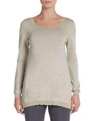 Peserico Metallic Lurex Cotton Sweater