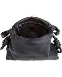 Loewe   Black Flamenco Flap Leather Shoulder Bag   Lyst