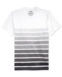 American Rag | White Dotted Stripe T-shirt for Men | Lyst