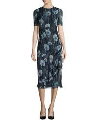 Jason Wu - Multicolor Watercolor Floral-print Silk-blend Sheath Dress - Lyst