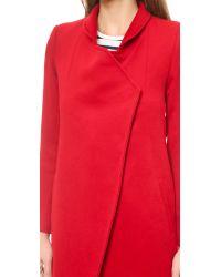 Nicholas - Felted Wool Coat Neon Red - Lyst