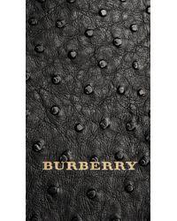 Burberry Black The Medium Banner In Ostrich