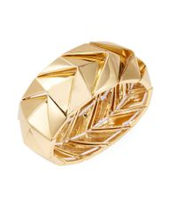 Trina Turk | Metallic Nested Chevron Cuff Bracelet | Lyst