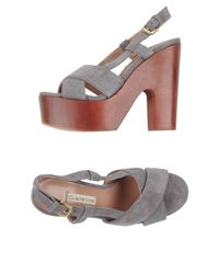 L'Autre Chose Gray Sandals