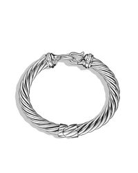 David Yurman | Metallic Buckle Cable Bracelet With Diamonds | Lyst
