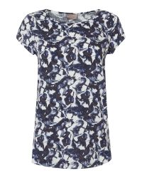 Vero Moda | Blue Printed Top | Lyst
