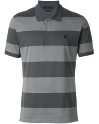 Alexander McQueen - Gray Striped Polo Shirt for Men - Lyst