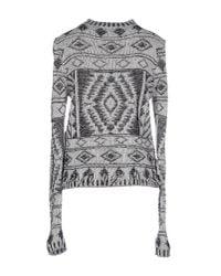 Vero Moda - Black Patterned Knit Sweater - Lyst