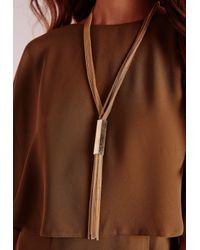 Missguided - Metallic Tassel Necklace Gold - Lyst