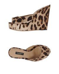 Dolce & Gabbana - Natural Sandals - Lyst
