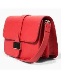 Mango - Red Buckle Detail Cross Body Bag - Lyst