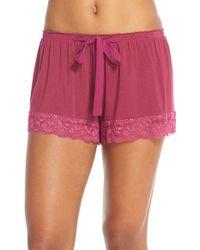 Flora Nikrooz Purple Snuggle Lounge Shorts