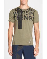 Reebok Green 'one Series Strength' Playice Training T-shirt for men
