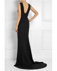 Stella McCartney Black Kimberly Stretch-Cady Gown