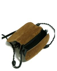 Saint Laurent Brown Passementerie Small Suede & Leather Chain Bag