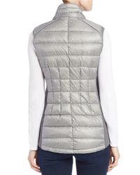 MICHAEL Michael Kors Gray Faux Fur-trimmed Quilted Vest