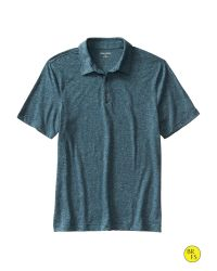 Banana Republic | Blue Factory Marled Polo for Men | Lyst