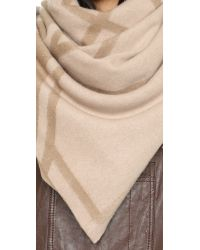 Tory Burch - Natural Fret Jacquard Blanket Scarf - Lyst