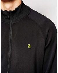 Original Penguin | Black Kirk Zip Through Sweater for Men | Lyst