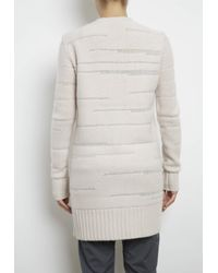 INHABIT   Natural Luxe Cashmere Long Zip Cardigan With Gradated Texture   Lyst