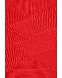 Hervé Léger Orange Bandage Gown