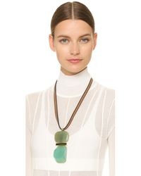 Marni | Green Resin Necklace - Opal | Lyst
