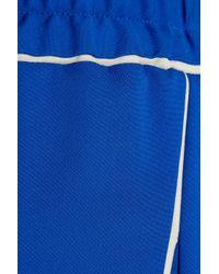 Calvin Klein Blue Telma Stretch-crepe Wide-leg Pants