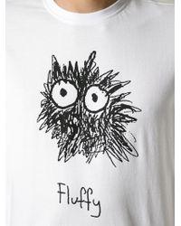 Aspesi | White 'Fluffy' Print T-Shirt for Men | Lyst