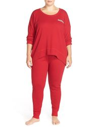 Lucky Brand | Red Thermal Pajamas | Lyst