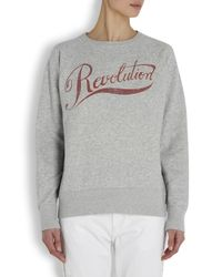 Étoile Isabel Marant - Gray Gen Revolution Print Cotton Blend Sweatshirt - Lyst