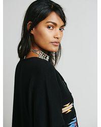 Tasi Malibu Black Cruz Pullover Poncho