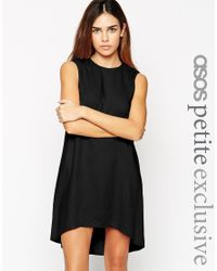 ASOS | Black Exclusive Tunic Swing Dress | Lyst
