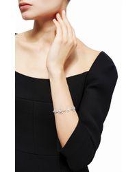 Buccellati   Metallic Flexible Bracelet 8 Motifs With Diamonds In White Gold   Lyst