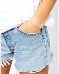 Dogeared - Blue Lucky Horseshoe Bracelet - Lyst