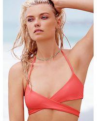 Free People - Orange Halter Wrap Top Soleil Bottom - Lyst