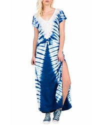Volcom | Blue Supersonic Tie-Dyed Maxi Dress | Lyst