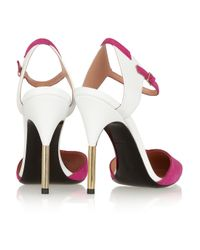 Roland Mouret Pink Leather And Suede Pumps