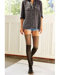 Urban Outfitters Green Tonal Scrunch Over-the-knee Sock