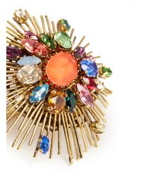 Erickson Beamon | Multicolor 'telepathic' Crystal Firework Ring | Lyst