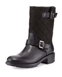 Aquatalia - Black Sherry Quilted Moto Boot - Lyst