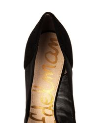 Sam Edelman Black Desiree Leather, Suede And Mesh Pumps