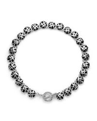 Slane | Black Crescent Weave Riviera Necklace | Lyst