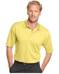 PGA TOUR | Yellow Men's Big & Tall Golf Performance Airflux Polo for Men | Lyst