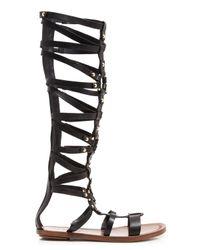 Via Spiga - Black Open Toe Flat Gladiator Sandals - Sumner - Lyst