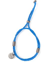 Bottega Veneta | Blue Braided Bracelet | Lyst