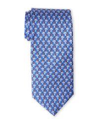 Pierre Cardin | Blue Anchor Silk Tie for Men | Lyst