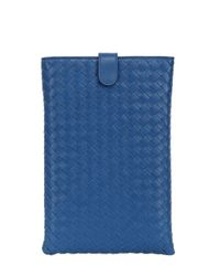 Bottega Veneta - Blue Classic Woven Nappa Mini Ipad Case - Lyst