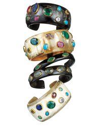 Ashley Pittman | Multicolor Macho Multi-Stone Dark Horn Cuff | Lyst