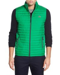 Lacoste | Green 'sport' Insulated Vest for Men | Lyst